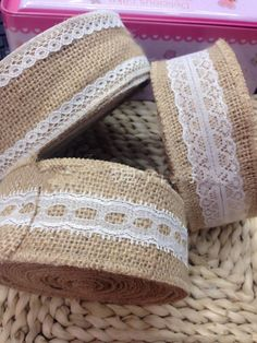 6d7e4898d 10 Meter Natural Jute Burlap Hessian Ribbon lace Craft Gift trim Edge  Vintage table runn0er Wedding