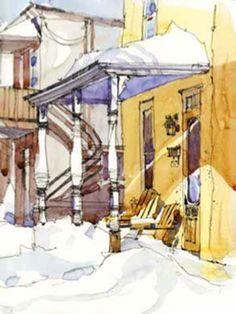 Urban sketches by Shari Blaukopf   ArtistsNetwork.com #UrbanSketchers #UrbanSketching #sketching #drawing