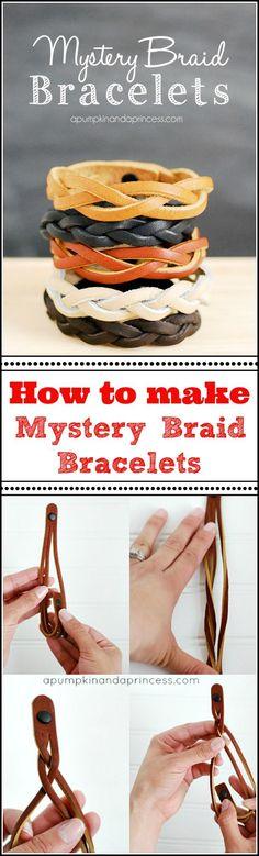 *How to make a mystery braid bracelet. Bracelet blanks can be bought at Michaels.