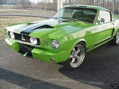 1965 Ford Mustang Fastback Shelby Green is my Fav Color..