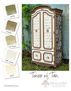 Tans Color Card