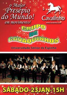 Este Sábado venham visitar O Maior Presépio do Mundo em Movimento e aproveitem para assistir ao espetáculo do Grupo de Cavaquinhos da Universidade Sénior de Espinho às 15:00.