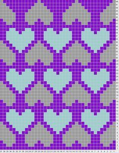 SCHEMAT/SERCA Heart Chart This site also lets you design your own knitting charts- Tricksy Knitter Knitting Charts, Knitting Stitches, Knitting Patterns, Crochet Patterns, Cross Stitching, Cross Stitch Embroidery, Cross Stitch Patterns, Pixel Crochet, Crochet Chart