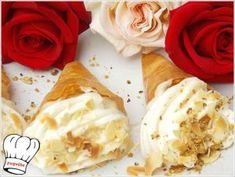 Greek Desserts, Cool Writing, Deserts, Food And Drink, Eggs, Sweets, Cooking, Breakfast, Ethnic Recipes