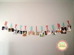 Milestone  Photo Banner 1 st Birthday by PerfectLemonade on Etsy