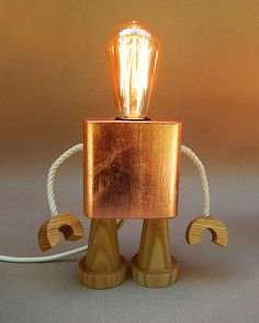 Lamp | Robo | Copper | Matt Pugh - Modern British Design