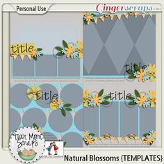 $2 Tuesday by TwinMomScraps! Natural Blossoms TEMPLATES $2; http://store.gingerscraps.net/Natural-Blossoms-TEMPLATES.html. 30/04/2013