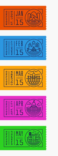 """My contribution to the State Plates Project // a collaborative project between 50 designers to reimagine their state's license plate.—""""There's a little bit of everything in Missouri; the Great Plains in the north, the Ozark Mountains in the south, and…"""