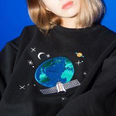 Oversized Space Sweatshirt