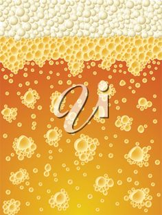 iCLIPART - Abstract foamy light beer vertical vector background.