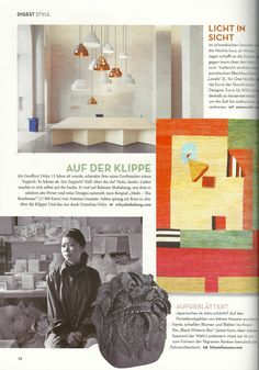 """From the May issue of @Architectural Digest Germany, one of our Antonia Guzmán carpets. Translated it says: """"As Geoffrey Orley was 15 years old, his grandmother gave him a carpet. He refused. A carpet? Great! But there? No, thank you. Rather, he made himself to look. He met Bahram Shabahang, with whom he has since ancient Persians and collects new designs, for example, """"Multi - The BoatHouse"""" (11 500 euro) by Antonia Guzmán. Rarely a boat jumped over the cliff so chic! And only thanks to…"""