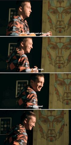 as he ADORABLY laughs