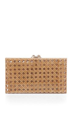 Wicker Pandora Clutch by Charlotte Olympia