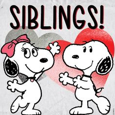 Happy #NationalSiblingsDay! Here is Snoopy with his sister Belle! @BellePRGirl