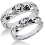 14K Gold Diamond Wedding Band Sets   14K-DWBS2126   0.48 Ctw. ($1,423.00 USD)