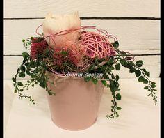 **°HERZENSGRUß°kl.romantisches blumiges Gesteck** _Dekoration Deko Landhaus-Romantik_ +ländliches,natürliches Gesteck+ mit viel Liebe zum Detail gefertigt H: ca.:20cm /...