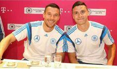 Lukas Podolski and Jonas Hector