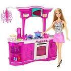 Barbie Glam Kitchen Playset Set Doll Accessories Stovetop Food Mattel Pots for sale online Barbie Doll Set, Barbie Sets, Barbie Doll House, Barbie Dream House, Barbie And Ken, Pink Barbie, Barbie Furniture, Pink Furniture, Kitchen Furniture