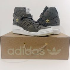 brand new 0f27a 8b8e9 Adidas Forum Hi Crafted w Cleaning Kit Mens