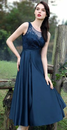 eDressit Blue Floral Embroidery Cocktail Dress