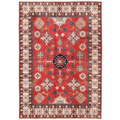 Herat Oriental Afghan Hand-knotted Vegetable Dye Transitional Kazak Wool Rug (8'5 x 12'2)