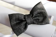 Silver bow tie christmas