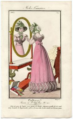 An elaborate mirror 1823 L'Indiscret