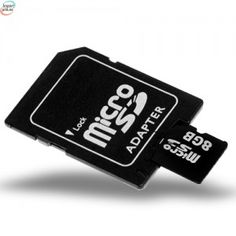 SD Micro Minnekort Med SD Adapter 8 GB (Passer Alle Våre Telefoner)
