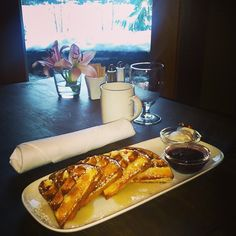 Breakfast anyone? Freshly made Nita Waffles with real Canadian maple syrup, berry compote and vanilla whipped cream - mmmmmm Berry Compote, Vanilla Whipped Cream, Canadian Maple, Executive Chef, Start The Day, Whistler, Maple Syrup, Cheesesteak, Waffles