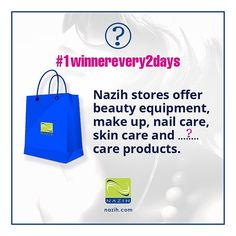 1 Winner Every 2 days Winners will be announced on Snapchat  HOW TO ENTER:  1) Follow @nazihcosmetics  2)Tag 5 Friends  3) Copy the sentence & Fill in the blanks:  Nazih stores offer beauty equipment make up nail care skin care and  care products.  Winners will be announced on Snapchat @nazihcosmetics #1winnerevery2days  Enter now for your chance to WIN #1winnerevery2days جوائز كل يومين يتم إعلان الفائزين على السناب شات  الخطوات:  1)	فولو @nazihcosmetics  2)	تاغ 5 أصدقاء  3)	انسخي الجملة…