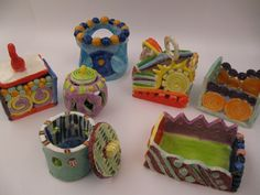 mixed construction: slab and coil pots ~Smith Middle School, Miss Murphy