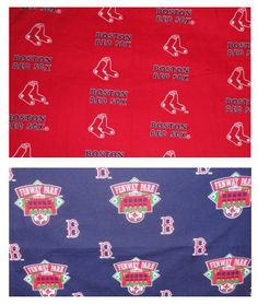 Fenway Park Red Sox fabric material scrap remnants rare print for craft projects.