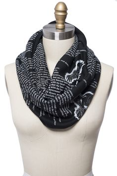 The Raven by Poe Book Scarf by storiarts on Etsy