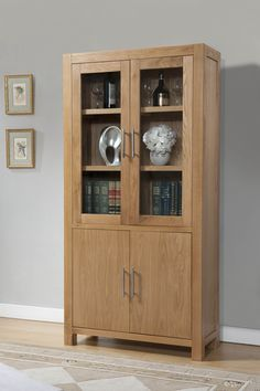 Birstall Oak Interior Furniture Modern Display Cabinet