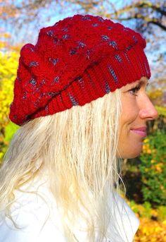 Damenmütze Beanie – red relish  von Mausepelzchen kreativ auf DaWanda.com