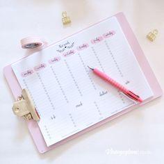 FREE printable week at-a-glance planner