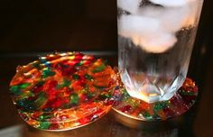How to make Melted Bead Coasters   ...............Follow DIY Fun Ideas at www.facebook.com/... for tons more great projects!