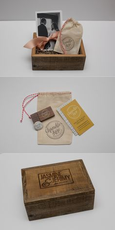 Photography Packaging, Custom Photo box, reclaimed wood, Custom USB, Design, Branding, Louisville Wedding Photographer | Chandler Rose Photography