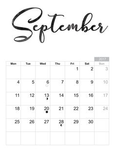 2017 September - Free printable Sheet