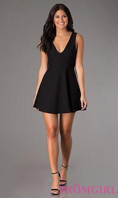 Short V-Neck Sleeveless Dress. Shop the look: http://www.promgirl.com/shop/dresses/viewitem-PD1289271