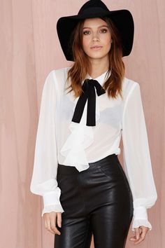 Nasty Gal Poetic License Chiffon Blouse