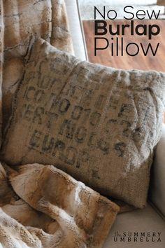 & WASHED BURLAP TUTORIAL | Burlap Tutorials and Craft pillowsntoast.com