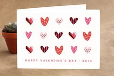 Heart Party Valentine's Day Greeting Cards by Shari Margolin at minted.com