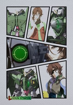Lockon Stratos (ロックオン・ストラトス Rokkuon Sutoratosu), born Neil Dylandy (ニール・ディランディ Nīru Dirandi). Lockon is 24 year old from Ireland (AEU) and is a Gundam Meister for Celestial. His roll with Celestial Being is pilot of the GN-002 Gundam Dynames.
