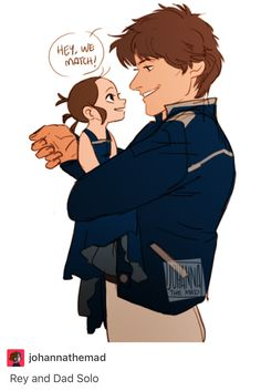 rey and dad solo