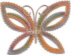 Kliknutím zavřít Bobbin Lacemaking, Bobbin Lace Patterns, Lace Heart, Lace Jewelry, Irish Lace, Lace Making, Lace Detail, Tatting, Butterfly