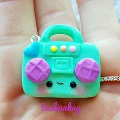 Super cute boom box charm made by Tashuakay!