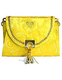 gorgeous yellow damask print bag