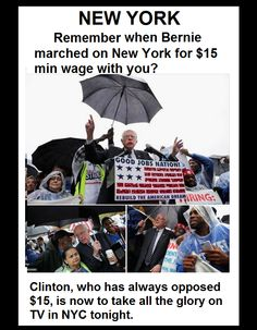 #15NotHerVictory #FightFor15 #BernieSaidItFirst #StealTheBern #WhichHillary