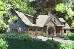 Craftsman Style House Plan - 4 Beds 3.5 Baths 2482 Sq/Ft Plan #120-184 Exterior - Other Elevation - Houseplans.com